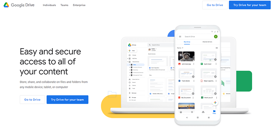 Google Drive (Simple and Fast Sharing Solution from Google)