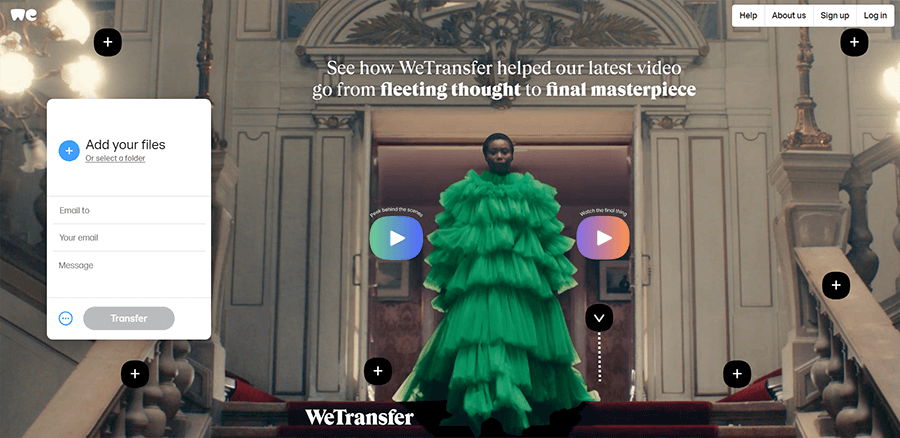 WeTransfer (A well-known file sharing system)