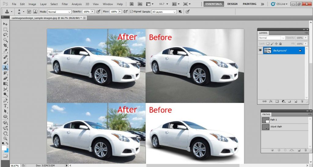 car background: Car image editing background in Photoshop